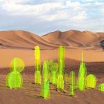 Cici és kaktusz – fluoreszkál és akril